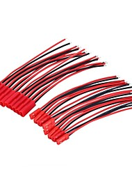cheap -10Pairs 2Pin JST Plug Connector Cable Wire Male  Female 100mm