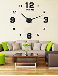 cheap -Casual / Modern Contemporary / Office / Business Stainless Steel / EVA Round Garden Theme Indoor / Outdoor / Indoor AAA Decoration Wall Clock Digital Brushed Steel No