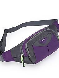 cheap -1 L Waist Bag / Waistpack Multifunctional Windproof Fast Dry Wear Resistance Outdoor Hunting Fishing Hiking Cloth Nylon Orange Purple Pink