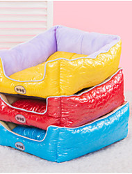 cheap -Dog Mattress Pad Bed Bed Blankets Mats & Pads PU Leather Cotton Solid Colored Yellow Red Blue