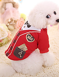 cheap -Dog Vest Winter Dog Clothes Yellow Red Costume Cotton British Casual / Daily XS S M L XL
