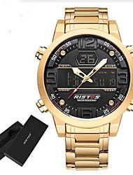 cheap -Men's Sport Watch Military Watch Digital Watch Quartz Charm Water Resistant / Waterproof Alarm Calendar / date / day Analog - Digital Yellow Red Blue / Stainless Steel / Stainless Steel / Japanese