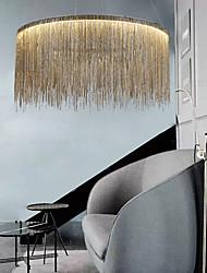 cheap -1-Light 50 cm LED Designers Chandelier Gold Luxury Pendant Light Metal Drum Chrome Modern Contemporary 110-120V 220-240V