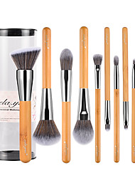 cheap -Professional Makeup Brushes Makeup Brush Set 10 Travel Blending Premium flawless Buffing Stippling Concealer Synthetic Hair / Artificial Fibre Brush Bamboo for Cream Liquid Powders