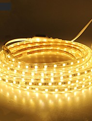 cheap -18m 1080SMD LEDs 5050 SMD 10mm Warm White / White / Red Waterproof / Cuttable 220 V