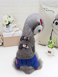 cheap -Cat Dog Coat Sweater Hoodie Winter Dog Clothes Red Gray Costume Flannel Fabric Terylene Letter & Number Party Casual / Daily Keep Warm S M L XL XXL