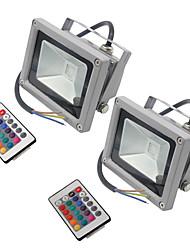 Недорогие -hkv® 10w 900-1000 lm rgb привело прожектор света cob наружный прожектор водонепроницаемый ip65 светодиодный наружный свет ac85-265v