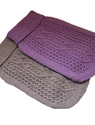 cheap -Dog Sweater Geometric Casual / Daily Dog Clothes Purple Gray Costume Acrylic XS S M