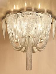 cheap -6-Light 50 cm Bulb Included Flush Mount Lights Metal Chrome Chic & Modern 110-120V / 220-240V