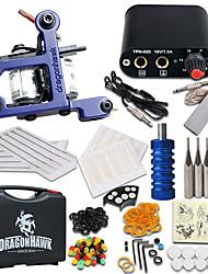 cheap -Tattoo Machine Starter Kit - 1 pcs Tattoo Machines with 1 x 5 ml tattoo inks Mini power supply 1 alloy machine liner & shader