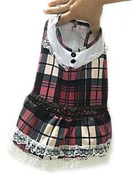 cheap -Dog Dress Dog Clothes Purple Costume Fabric British Casual / Daily S M L XL XXL