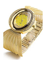 cheap -Women's Bracelet Watch Diamond Watch Gold Watch Silver / Gold Creative Imitation Diamond Analog Ladies Charm Luxury Sparkle Bohemian - Gold Silver