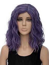 Недорогие -Парики из искусственных волос Волнистые Лёгкие волны Парик Короткие Фиолетовый Искусственные волосы Жен. Волосы с окрашиванием омбре Фиолетовый