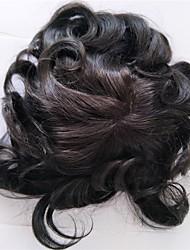 abordables -Homme Cheveux humains Postiches Classique 100 % Tissée Main Quotidien