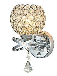 abordables -simplicité moderne k9 cristal appliques murales salon restaurant chambre lampe de chevet escalier couloir luminaire