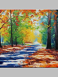 cheap -Oil Painting Hand Painted - Landscape Artistic Outdoor Stretched Canvas