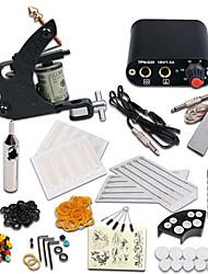 cheap -Tattoo Machine Starter Kit - 1 pcs Tattoo Machines with 1 x 5 ml tattoo inks Mini power supply 1 steel machine liner & shader