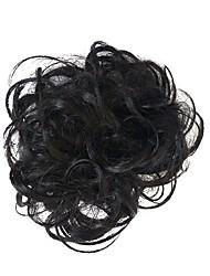 cheap -chignons Classic / Halloween / Christmas Hair Bun Updo Synthetic Hair Hair Piece Hair Extension Classic / Halloween / Christmas Daily Natural Black