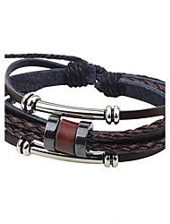 cheap -Men's Leather Bracelet Cheap Fashion Leather Bracelet Jewelry Coffee For Casual Going out