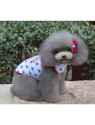 cheap -Dog Vest Dog Clothes Polka Dot Red / Blue Cotton Costume For Pets Summer Men's / Women's Casual / Daily
