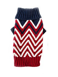 cheap -Cat Dog Sweater Winter Dog Clothes Green Red Costume Chinlon Color Block Casual / Daily Keep Warm Sports XS S M L XL XXL