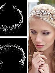 cheap -Crystal / Imitation Pearl Headbands / Headwear / Head Chain with Floral 1pc Wedding / Special Occasion / Birthday Headpiece