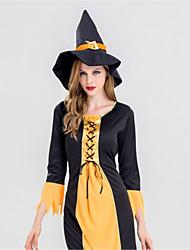 Недорогие -ведьма Платья Взрослые Хэллоуин Фестиваль / праздник Полиэстер Карнавальные костюмы Винтаж
