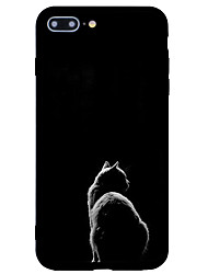 cheap -Case For Apple iPhone 7 Plus / iPhone 7 / iPhone 6s Plus Frosted / Pattern Back Cover Cat / Animal / Cartoon Hard Acrylic