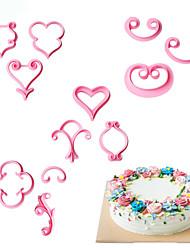 Недорогие -Формы для пирожных Цветы Повседневное использование Для торта Для приготовления пищи Посуда Печенье Пластик Своими руками День