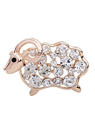 cheap -Women's Girls' Brooches Sheep Animal Rhinestone Brooch Jewelry Champagne For Party Stage