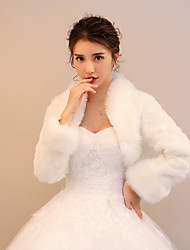 cheap -Shrugs Faux Fur Wedding / Party / Evening Women's Wrap With Smooth / Pattern / Print / Polka Dot