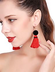 cheap -Women's Drop Earrings Hoop Earrings Tower Colorful Earrings Jewelry Yellow / Red / Light Blue For Party New Year