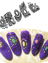 cheap -Art Deco / Retro Water Transfer Sticker Sticker Nail Stamping Template Daily Fashion High Quality
