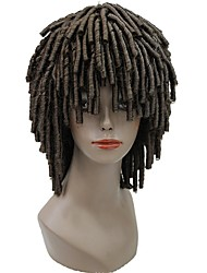 cheap -Synthetic Wig Afro Afro Wig Blonde Medium Length Chestnut Brown Light Blonde Medium Brown Synthetic Hair Men's Crochet Faux Dreads African American Wig Blonde Brown StrongBeauty