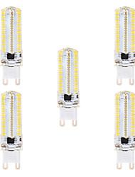 cheap -5 pcs 8W 152LED Dimmable SMD3014 Corn Light AC220V  AC110V  White  Warm White  G9  G4  BA15D