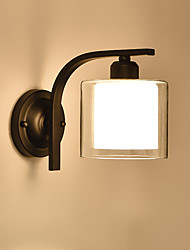 cheap -Northern Europe Glass Wall Sconce Living Room Dining Room Bedroom Metal Mini Wall Lights