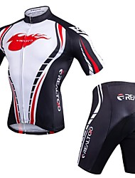 cheap -Realtoo Men's Short Sleeve Cycling Jersey with Shorts Bike Clothing Suit 3D Pad Quick Dry Anatomic Design Sports Spandex Classic Mountain Bike MTB Road Bike Cycling Clothing Apparel / Stretchy