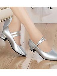 cheap -Women's Dance Shoes Synthetics Modern Shoes/Character Shoes Heel Black / Silver / Practice / EU40