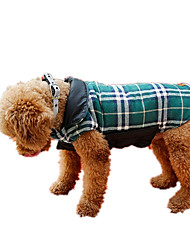 cheap -Dog Vest Winter Dog Clothes Brown Green Red Costume Terylene British Casual / Daily XS S M L XL XXL