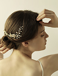 cheap -Imitation Pearl / Rhinestone Hair Combs / Flowers / Hair Stick with 1 Wedding / Anniversary / Birthday Headpiece