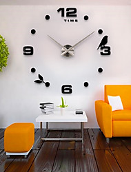 cheap -Casual / Modern Contemporary / Office / Business Stainless Steel / EVA Bird / Fashion Indoor / Outdoor / Indoor AAA Decoration Wall Clock Analog Electroplated / Brushed Steel No