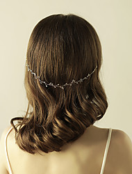 cheap -Gemstone & Crystal / Tulle / Imitation Pearl Headbands / Headpiece / Head Chain with Crystal / Feather 1 Wedding / Special Occasion / Anniversary Headpiece