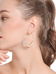 cheap -Women's Crystal Drop Earrings Hoop Earrings Bling Bling Crystal Imitation Pearl Earrings Jewelry Gold For Daily Casual