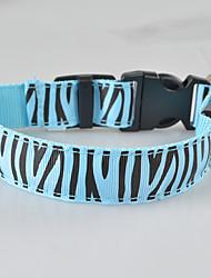 cheap -Dog Collar LED Lights Strobe / Flashing Zebra Terylene Green Blue Pink