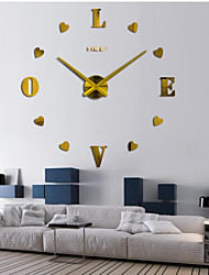 "cheap -Wall Clock,Casual Modern Contemporary Office / Business Stainless Steel EVA 2"" Heart"