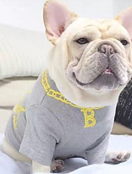 cheap -Dog Sweatshirt Dog Clothes Geometic Gray Blue Cotton Costume For Spring &  Fall Summer Men's Women's Casual / Daily