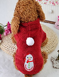 cheap -Cat Dog Jumpsuit Dog Clothes Cartoon Red Cotton Costume For Spring &  Fall Christmas