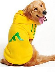 cheap -Dog Sweater Sweatshirt Dog Clothes Black Yellow Red Costume Cotton Bone Casual / Daily XXXL XXXXL XXXXXL