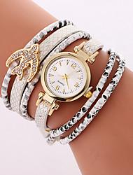 cheap -Women's Bracelet Watch Quartz Quilted PU Leather Black / White / Blue 30 m Cool Analog Ladies Casual - White Black Light Blue