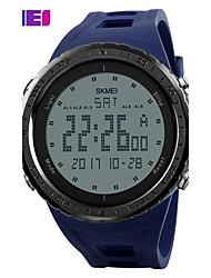 Недорогие -SKMEI Муж. Спортивные часы электронные часы Цифровой Стеганная ПУ кожа Черный / Синий / Зеленый Повседневные часы Цифровой Кулоны - Серый Зеленый Синий Два года Срок службы батареи / Maxell CR2025